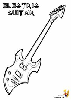 Who Else Wants Guitar Coloring Pages Free To Print Of Musical Instruments