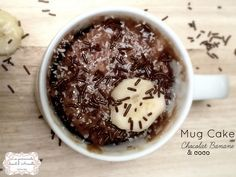 Mug Cake Chocolat Banane et coco au micro-ondes