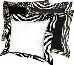"Zebra Kalahari Pillow  Kalahari pillow is a Soft Faux Suede with a wide Faux Fur Animal Print Trim.  Faux Suede the colors of the earth of Kalahari, and the animal print for the animals that roam. This is a unique center piece for any decor.  Back side of the pillow is solid Faux Suede. Used alone, or with another print, this pillow will make a statement. None removable cover.  Damp Cloth Clean. 100% Polyester.    Approximately 19"" x 19"".   $42.00"