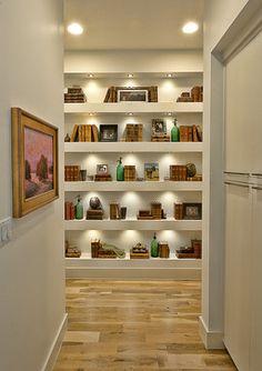lighting of shelves Bryant Hill Media