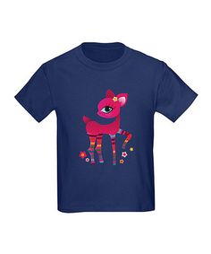 Take a look at this Navy Oh Deer Tee - Toddler & Girls by CafePress on #zulily today!