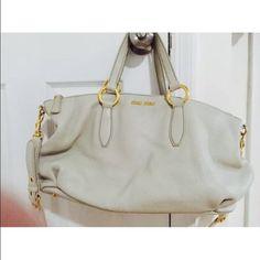Mui Mui Authentic Handbag White leather Mui Mui Bags Totes