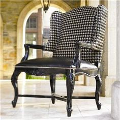 Barclay Square Kendal Wing Back Chair with Exposed Wood and Nailhead Trim by Lexington Home Brands - Baer's Furniture - Wing Chair Miami, Ft. Lauderdale, Orlando, Sarasota, Naples, Ft. Myers, Florida
