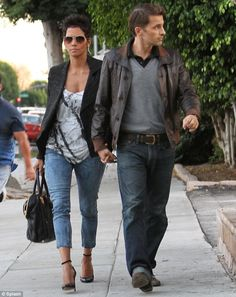 Halle Berry out on a date with Olivier Martinez.