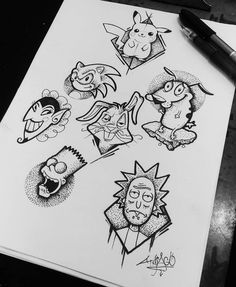 Trippy Drawings, Dark Art Drawings, Pencil Art Drawings, Art Drawings Sketches, Tattoo Sketches, Tattoo Drawings, Cool Drawings, Doodle Tattoo, Doodle Art Drawing