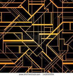 Art deco geometric pattern (1920's style) by Gorbash Varvara, via Shutterstock