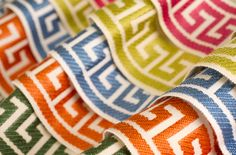 Fabricut Greek Key Trimmings Collection. Lots of colors available