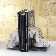 Natural Geode Bookend Set