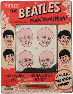 The Beatles magnetic hair game