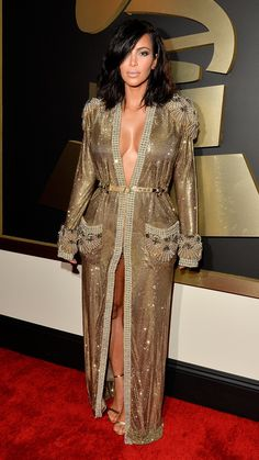 Worst | Sorry Kim Kardashian! While we love the sparkle of this Jean Paul Gaultier look, we just can't get behind the robe-like feel. via @stylelist