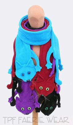 Fleece CAT scarf by tpffaeriewear on Etsy, £53.00