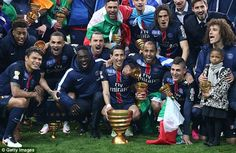 Manchester United flop Angel di Maria scored with his side down to 10 men as Paris Saint-Germain beat Lille to win the French League Cup for the third straight time. French League, Champions League Draw, Paris Saint Germain, Team Photos, Best Player, Leicester, Psg, Messi, Manchester United