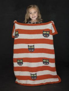 Scaredy Cat Blanket ##knitting