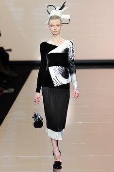 Armani Privé Fall 2011 Couture Fashion Show - Kamila Filipcikova
