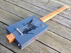 Chillin' -Three String Fretted Electric Cigar Box Guitar #88