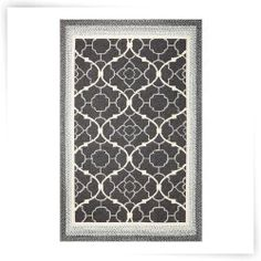KAS Rugs FAI5515 Fairfax Indoor / Outdoor Rug - Charcoal Filigree