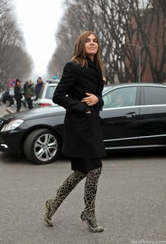 Carine Roitfeld and a great shot of those amazing Sergio Rossi boots.