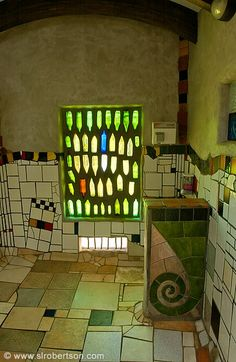 Love the bottle Windows that has been a steem of mine with. But of a variation....Freidensreich Hundertwasser made me love tile.