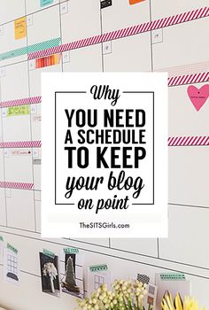 Blog Tips | Great tips to get organized and plan a blog schedule that works with your life!