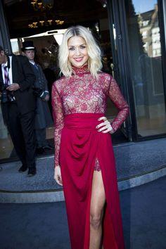 Den altid velklædte Christiane var i en kjole fra Stasia og sko fra Prada. Billed bladet