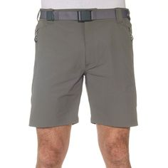 Shorts Hiking - Forclaz 500 Men - Light Grey - Short Quechua - Hiking Clothing and Accessories