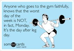Visit www.prozis.com for more information on bodybuilding and sports nutrition  #train #workout #best exercise Anyone who goes to the gym faithfully, knows that the worst day of the week is NOT, in fact, Monday. It's the day after leg day.