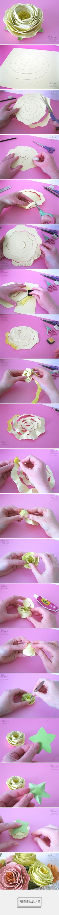 Clare's creations: Shabby rolled spiral flower tutorial (lots of photos!)