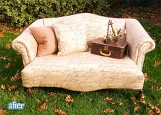 Hand Script Fabric Couch