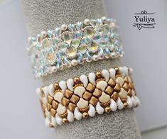 Beading tutorial bracelet Bead pattern Beading pattern   Etsy Jewelry Patterns, Bracelet Patterns, Beading Patterns, Knitting Patterns, Beaded Bracelets Tutorial, Earring Tutorial, Beading Needles, Beading Tutorials, Bead Weaving
