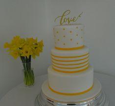 Spring yellow wedding cake
