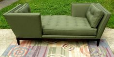 Sofa Quality Designer Fabric Wormley Inspired Tete-a-tete Mid Century ...