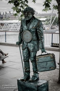 """Bronze statue.  From the series: """"Carnivalesque"""""""
