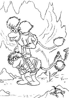 Fraggle Rock colouring page | Coloring Sheets | Coloring ...