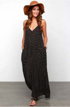 Oversize Halter Dot V neck Dress  1038679e398f