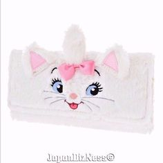 New Japan Disney Store Marie from The Aristocats Plush Wallet