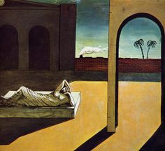 Giorgio de Chirico. Delights of the Poet, Piazza, Happiness of...