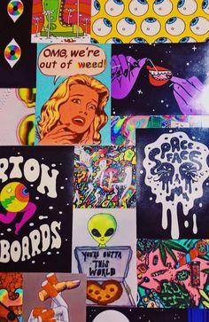 hippy room 785174516270801242 - Source by florianedomesor Trippy Wallpaper, Retro Wallpaper, Aesthetic Iphone Wallpaper, Hippy Room, Hippie Room Decor, Decor Room, Hipster Bedroom Decor, Boho Decor, Trippy Painting