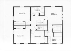 This well designed modular floor plan provides 4 bedrooms on the second floor. Notice the utilization of maximum living space with fewer ha...