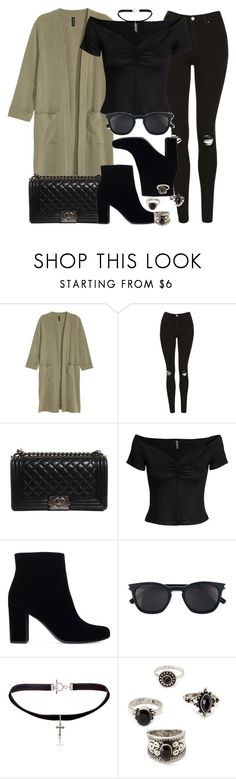 Style #11266 by vany-alvarado on Polyvore featuring H&M, Topshop, Yves Saint Laurent, Chanel and Forever 21