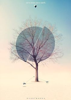 This tree poster is full of color and inspiration. Styles like this are so simple looking but complex.