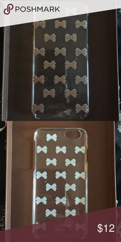 Kate spade iPhone 6/6s case Like new use very little. Clear case with rose gold glitter bows. kate spade Accessories Phone Cases