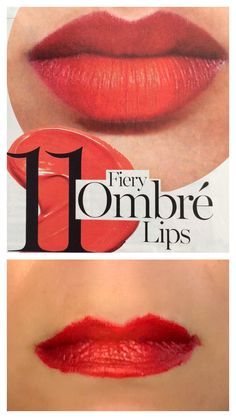 Happy #lipstickfriday! #fieryombrelips as seen in #glamour February issue. #redlipstick, #classic, with a #popoforange. #love!  #rimmel #kate10 #kate12 #lipstick. #Beauty #Belleza #Bellezza #Beauté #Beleza #Cosmetics #Cosméticos #Cosmetici #produitsdebeaute #Makeup #Maquillaje #maquillage #maquiagem #fabat40.