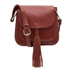 Bolsa tiracolo Grenoble - A bolsa de couro sintético complementa diversos looks…