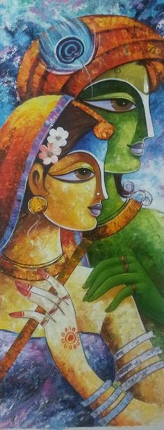 Flower Painting Canvas, Saree Painting, Diy Canvas Art, Madhubani Art, Madhubani Painting, Indian Art Paintings, Modern Art Paintings, Indian Folk Art, Krishna Painting
