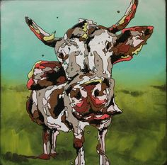 Cow, drip art, mch artwork Drip Art, Messy Art, Master Chief, Cow, Sci Fi, Artwork, Fictional Characters, Science Fiction, Work Of Art