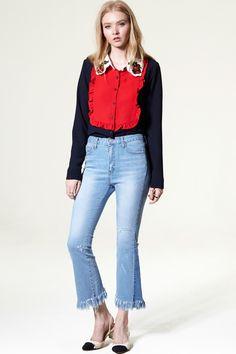 Diany Denim Pants Discover the latest fashion trends online at storets.com #Mermaid Skirt #Check Suit Pants #Velvet Skirt