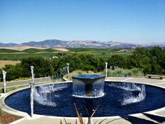 Artesa Winery in Napa Famous Wines, Cultural Experience, Napa Valley, Countryside, Fountain, Oregon, Vineyard, California, Outdoor Decor