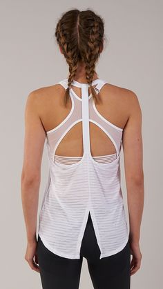 The Gymshark T-Bar Vest's open back design improves breathability, ensuring a cool and comfortable workout. Coming soon in White. #gymshark