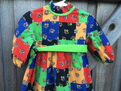 Patchwork Maxi Dress 4T/Toddlers 4 by lishyloo on Etsy