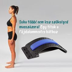 🧘Nyújtás és masszázs a jobb tartás érdekében ✅Beállítható nyújtási szint ✅Masszírozza hátát ✅Tökéletes ajándék Back Stretcher, Fitbit, Stretching, Health, Kitchen, Cooking, Health Care, Kitchens, Stretching Exercises